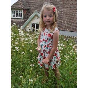 画像1: Rachel Riley(レイチェル・ライリー)Rose Cotton Jersy Dressコットンジャージドレス(ローズ) 8歳126cm
