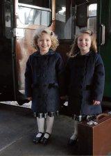 Rachel Riley(レイチェル・ライリー)Velvet Trim Scalloped Coat ベルベットトリムスカラップドコート(ネイビー) 1歳74cm