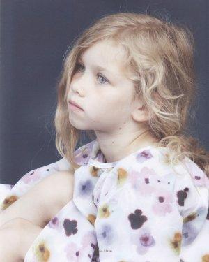 画像2: Christina Rohde(クリスティーナ・ローデ)Dress Waist-elastic長袖ブラウジングワンピース6歳8歳