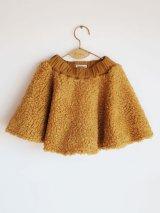 【SALE!!30%オフ!!】 WOLF&RITA(ウルフ&リタ) CARLA-ミニスカート-(YELLOW FUR)4歳6歳8歳