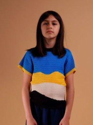 画像1: 【SALE!!30%オフ!!】 WOLF&RITA(ウルフ&リタ) VIRGINIA -サマーニット-(BLUE)4歳6歳