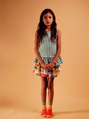 画像2: 【SALE!!30%オフ!!】 WOLF&RITA(ウルフ&リタ) JULIETA -トップス-(GREEN STRIPES)4歳8歳