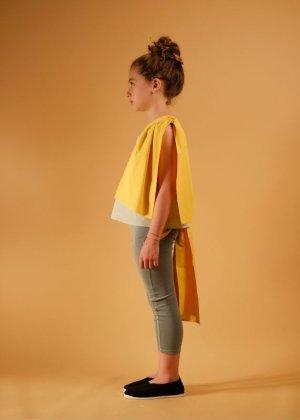 画像4: 【SALE!!30%オフ!!】 WOLF&RITA(ウルフ&リタ) ADELIA-ブラウス-(PISTACHIO/ YELLOW)4歳6歳
