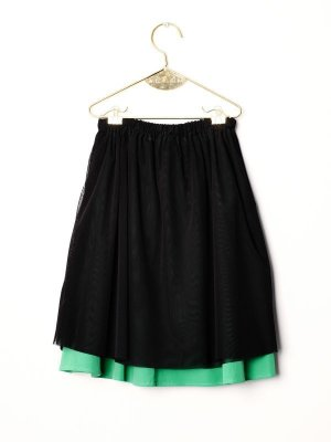 画像1: 【SALE!!30%オフ!!】 WOLF&RITA(ウルフ&リタ) LURDES -スカート-(BLACK)6歳116cm-JAPAN EXCLUSIVE-