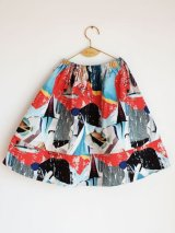 【SALE20%OFF!!】WOLF&RITA(ウルフ&リタ) LURDES-スカート-(SHIMMERING BLUES)6歳8歳