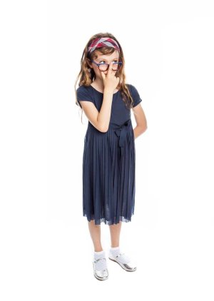 画像1: WOOLRICH(ウールリッチ) Girl Pleated Dress プリーツドレス6歳