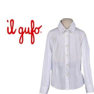 画像1: [SALE!!]Il gufo(イルグッフォ)フォーマル長袖ブラウス(ホワイト) 6歳116cm