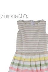 [SALE!!]SIMONETTA(シモネッタ)ストライプドレス 4歳107cm8歳138cm