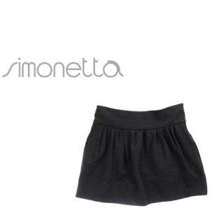 画像1: SIMONETTA(シモネッタ) シンプルストレッチ素材スカート(スチールグレー) 6歳122cm