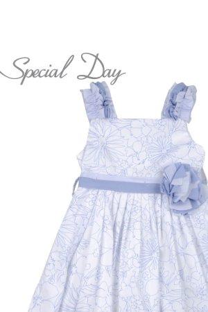 画像1: 【SALE!!】Special Day(スペシャルデイ) ベルト付サマードレスワンピース 4歳6歳
