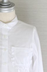 [SALE!!]SIMONETTA(シモネッタ)長袖ブラウス(ホワイト) 5歳115cm