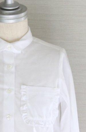 画像1: 【SALE!!】SIMONETTA(シモネッタ) 長袖ブラウス(ホワイト)  5歳115cm