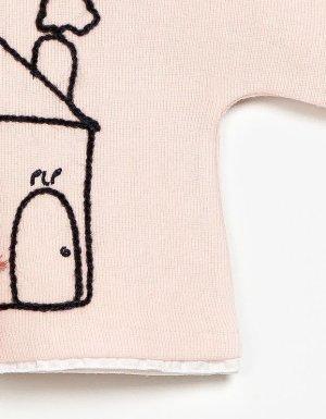 画像3: 【SALE!!30%OFF!!】 play up(プレイアップ) ロングスリーブトップス(ピンク)2歳