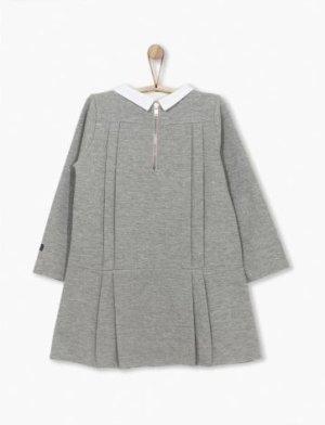 画像2: 【SALE!!30%OFF!!】 play up(プレイアップ) Roma Dress長袖ジャージワンピース(グレー)6歳114-112cm