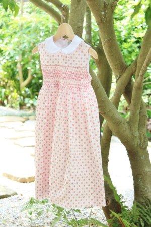 画像3: ピンクのお花とドットのスモッキングワンピース 3歳〜5歳
