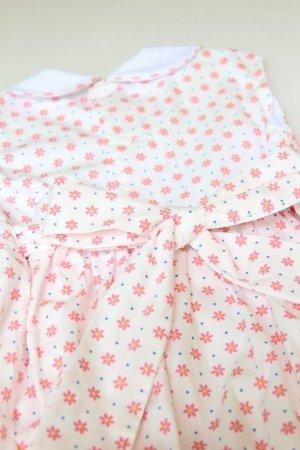 画像4: ピンクのお花とドットのスモッキングワンピース 3歳〜5歳