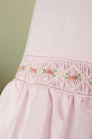 画像4: 【JiJiオリジナル】スモッキング刺繍ジャンパースカート/サマードレス(ペールピンク) 5歳6歳7歳