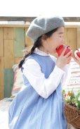 画像1: 【JiJiオリジナル】プリンセスラインワンピース/ジャンパスカート(ブルードット) 5歳6歳7歳8歳 (1)