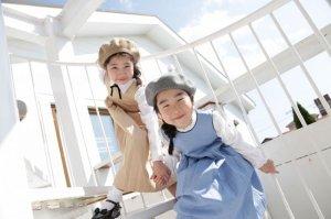画像2: 【JiJiオリジナル】 プリンセスラインワンピース/ジャンパスカート(ベージュドット) 2歳〜8歳