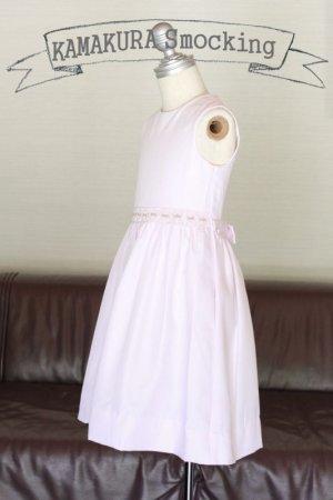 画像2: 【JiJiオリジナル】スモッキング刺繍ジャンパースカート/サマードレス(ペールピンク) 5歳6歳7歳